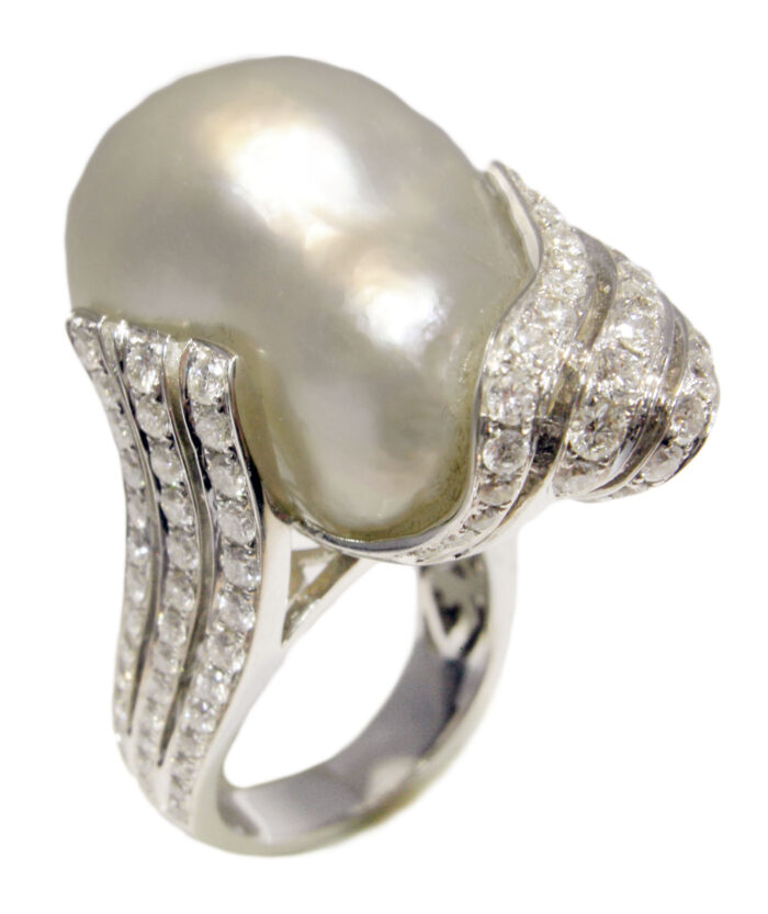 δαχτυλίδι με μαργαριτάρι νοτίων θαλασσών